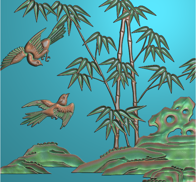 安远EPS浮雕之竹子浮雕