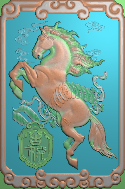 安远EPS浮雕之十二生肖马
