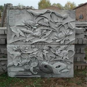 水泥花饰浮雕
